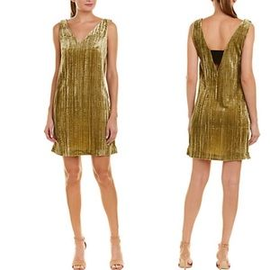 French Connection Theresa velvety olive dress NWT